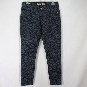 Old Navy Rockstar Skinny Jeans Gray Animal Print 8